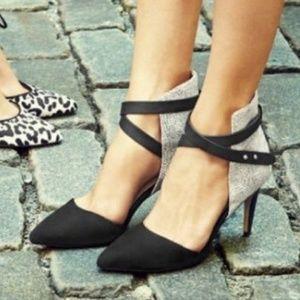 Joe's Laney Ankle Strappy Suede Dot Heel